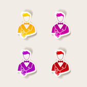 Realistic design element: bartender icon — Stock Vector