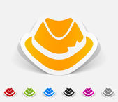 Realistic design element: hat — Stock Vector