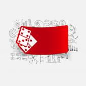 Drawing business formulas: domino — Stock Vector