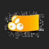 Drawing business formulas: billiards — Stock Vector
