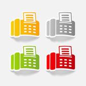 Realistic design element: fax — Stock Vector