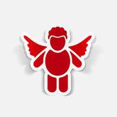 Projekt realistyczny element: anioł — Wektor stockowy