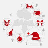 圣诞贴纸图 — 图库矢量图片