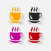 Realistic design element: coffee — Stock Vector