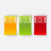 Realistic design element: countdown — 图库矢量图片
