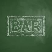 Bar icon on chalkboard — Vector de stock