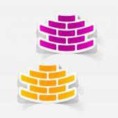Realistic design element: brickwork — Stock Vector
