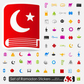 Set of ramadan stickers — Stock Vector
