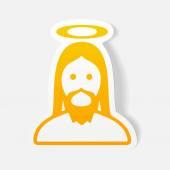 Realistický grafický prvek: Ježíš — Stock vektor