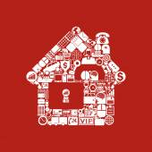 House shaped icon — Stock Vector