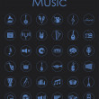 Set of music simple icons — Stock Vector #70602427