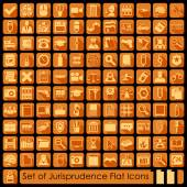 Set of jurisprudence icons — Stock Vector
