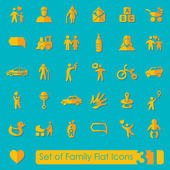 Set of family icons — Stock Vector