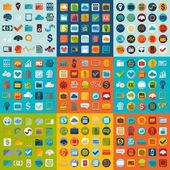 Zestaw ikon płaskie firmy — Wektor stockowy
