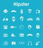 Set of hipster simple icons — Stock Vector