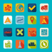 Set of navigation icons — Stock Vector