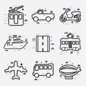 Transport infographic with icons — Stock Vector