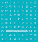 Set of game icons — Stock Vector