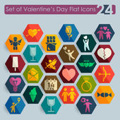Set of Valentine's Day icons — Stock Vector