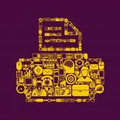 Printer shaped icon — Stock Vector