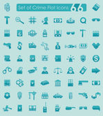 Set of crime icons — Stock Vector