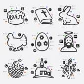 Easter infographic with icons — Stock Vector