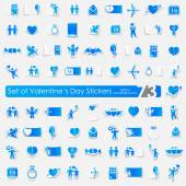 Set of Valentine's Day stickers — Stock Vector