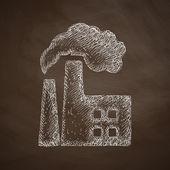 фабрика перекачивает символ по трубопроводу — Cтоковый вектор
