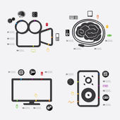 Technology infographic with icons — Stockvector