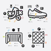 Football infographic with icons — Stock Vector