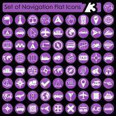 Sada navigační ikony — Stock vektor