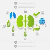 Инфографика этикетки медицины — Cтоковый вектор