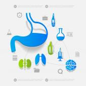 Medicine sticker infographic — Vector de stock