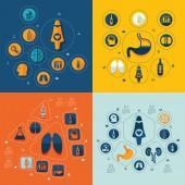Medicine flat infographic — Stock Vector