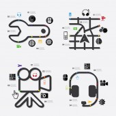 Technology infographic with icons — Stock Vector