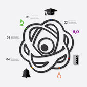 Education infographic with icons — Stock Vector