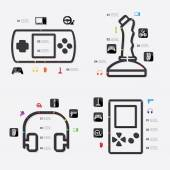 Game infographic with icons — Stock Vector