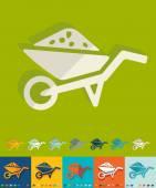 Garden wheelbarrow icon — Stock Vector