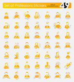 Set of professions stickers — Stock Vector