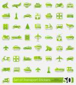 Set of transport stickers — Stock Vector