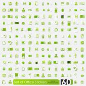 Set of office stickers — Stock Vector