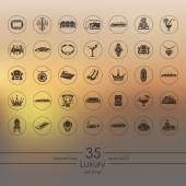 Set of luxury icons — Stock Vector