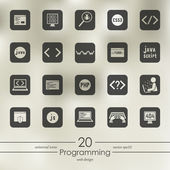 Set of programming icons — Stock Vector
