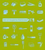Set of hygiene icons — Stock Vector