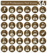 Set of professions icons — Stock Vector