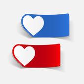 Realistic design element: heart — Vetor de Stock