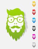 Face male icon — Stock Vector