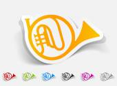 French horn icon — Stock Vector