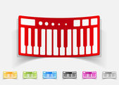 Realistic design element, synthesizer — Stock Vector