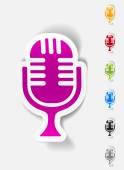 Realistic design element, microphone — Stock Vector
